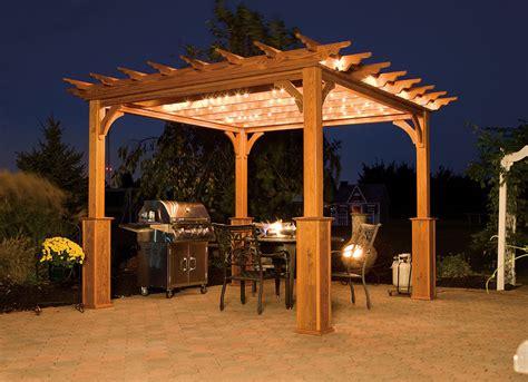 traditional wood vinyl pergolas backyard