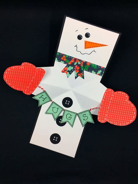snowman twist  pop card pop  christmas cards