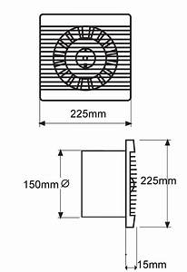Bas150slt Bathroom Kitchen Toilet Wall Mounted Extractor Fan By Vent Axia    Nfan Supply  U0026 Stock