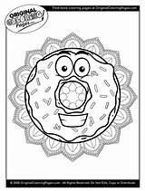 Coloring Donut Donuts sketch template