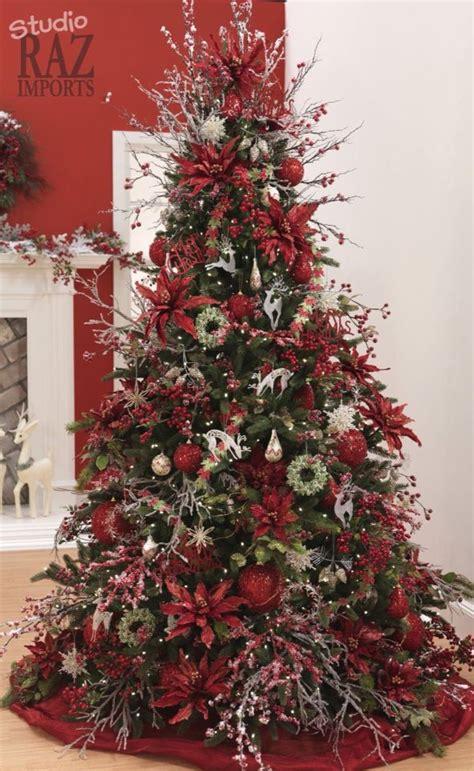 fancy red tree enchanted noel christmas tree