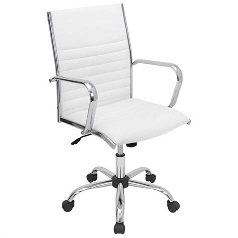 lumisource master office chair in white ofc ac mstr w