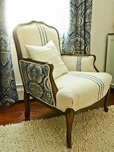 how to reupholster an arm chair hgtv With how to cover wood furniture with fabric