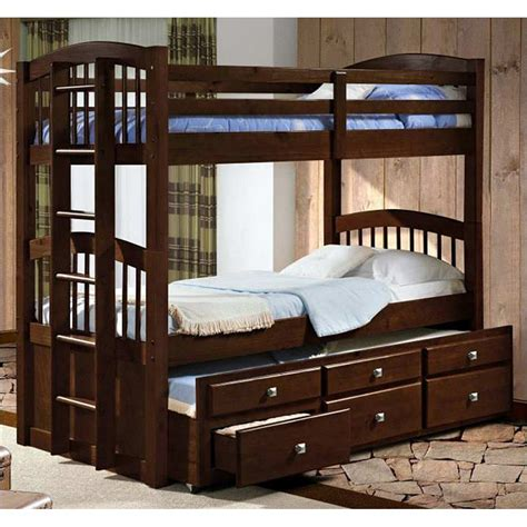 maclean tall twin spindle bunk bed storage trundle dark