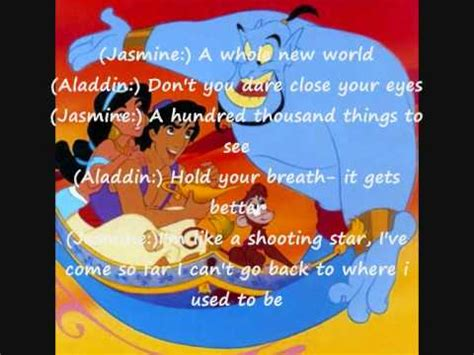 Aladdin a whole new world (lyrics) YouTube