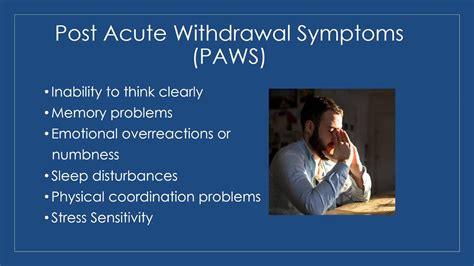 post acute withdrawal syndrome youtube