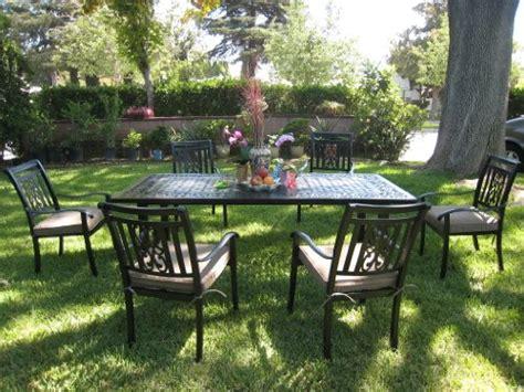 tables patio furniture cbm outdoor cast aluminum patio