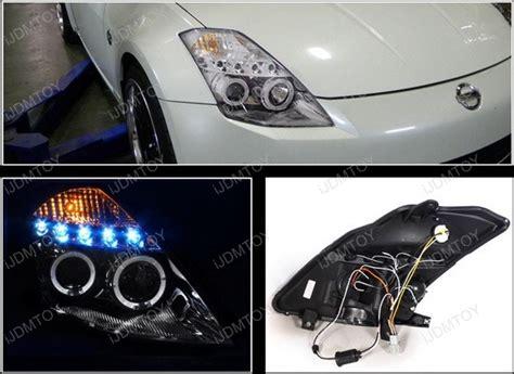 03-05 Nissan 350z Chrome Halo Angel Eyes Projector Led