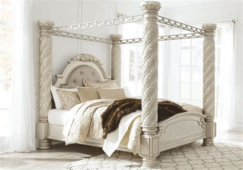 cassimore king canopy bedroom set louisville overstock