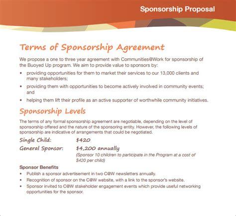 sponsorship proposal template    documents