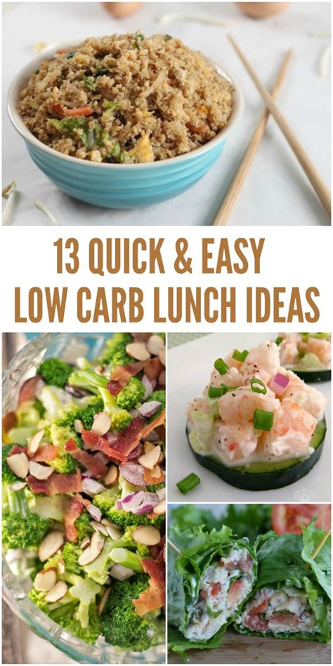 13 Easy Low Carb Lunch Ideas That Don't Take A Lot Of Prep