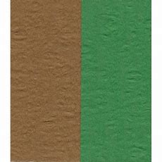 Crepe Paper  Double Sided Green And Brown  150 Mm 12