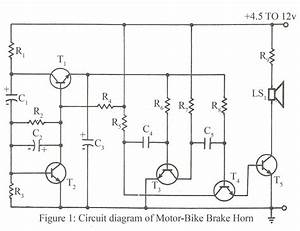 Circuit Diagram Of Motor Bike Brake Horn  U2013 Electronics Project