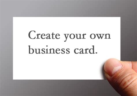 Create A Business Card Online