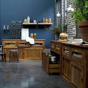 Sol noir murs couleur cuisine ouverte sur salle a for Deco cuisine avec salle a manger merisier