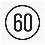 Icon Limit Speed Cartoon Vector Royalty Library