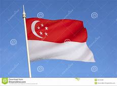 Flag Of Singapore City State Stock Image Image of city