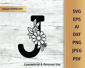 floral letter  svg initial svg flower alphabet svg etsy flower alphabet floral letters