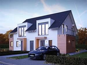 Grundriss Doppelhaushälfte Seitlicher Eingang : doppelhaus lifestyle 23 massa haus ~ Markanthonyermac.com Haus und Dekorationen