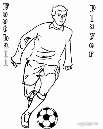 Coloring Football Pages Player Soccer Players Printable
