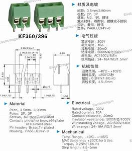 10pcs Kf350 Wiring Pcb Terminal Block 3 5mm Pitch  2p  3p