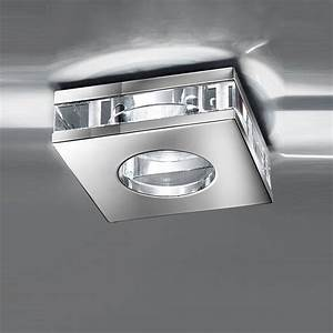 Franklite rf ip chrome finish recessed crystal downlight
