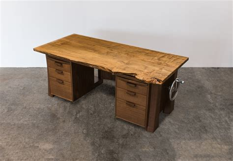 hand crank adjustable desk solid wood executive desk with adjustable hand crank