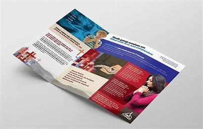 Brochure Fold Tri Church Template Templates Christian