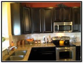 Espresso Kitchen Cabinets With Backsplash Home Design Ideas