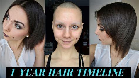 1 year hair growth timeline bald no eyebrows