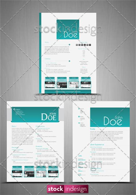 3 cv resume templates clean bonus free