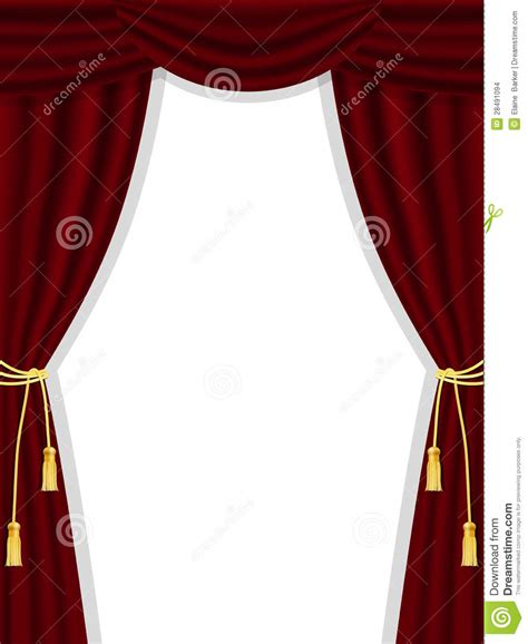 open theatre curtains on white stock images image 28491094