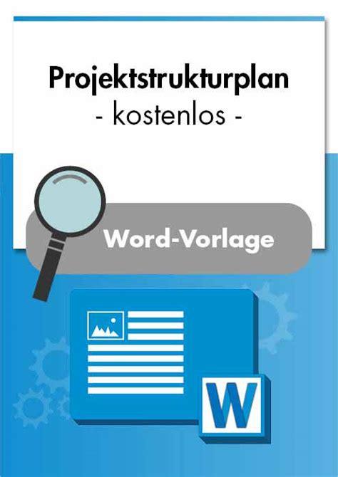 projektstrukturplan projektmanagement kostenlos vorest
