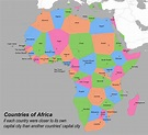 Africa: If each country were closer to its own capital ...