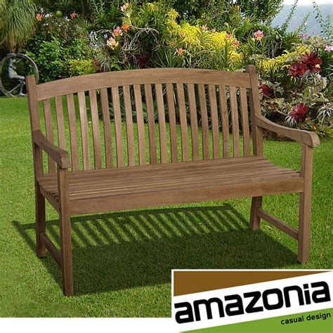 amazonia teak amazonia hartford 4 foot teak bench by