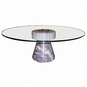 Coffee table with marble base and glass top by giotto for Stone base glass top coffee table