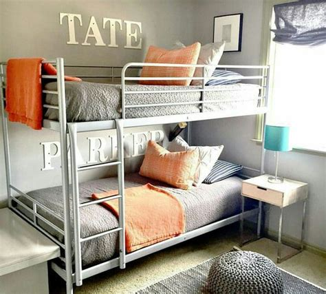 purchased these svarta bunk beds via ikea this room was