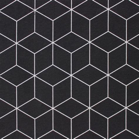 tissu dameublement  motif geometrique noir