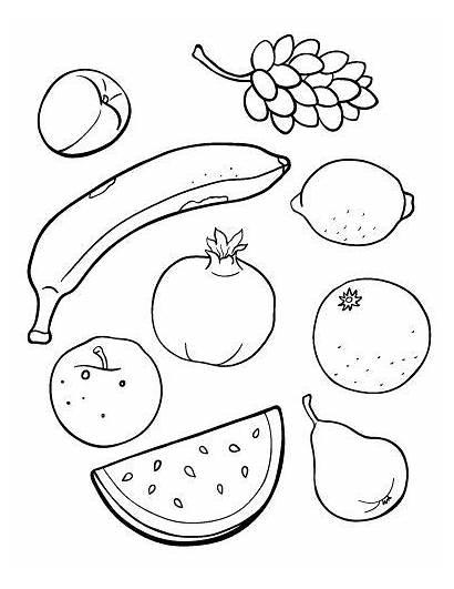 Fruit Coloring Pages Printable Printables Pdf Ee