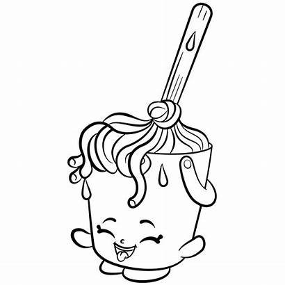 Shopkins Coloring Pages Cleaning Printable Mops Season