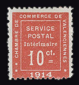 chambre de commerce de valenciennes guerre timbre philatélie