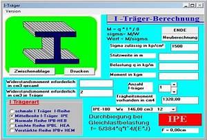 Träger Berechnen : berechnung stahl i tr ger download ~ Themetempest.com Abrechnung