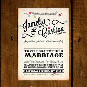 vintage confetti wedding invitation by feel good wedding With vintage email wedding invitations