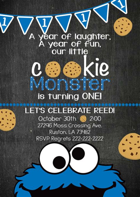 Cookie Invitation Template by Cookie Birthday Invite Cookie Invitation