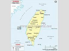 Taiwan Cities Map, Major Cities in Taiwan