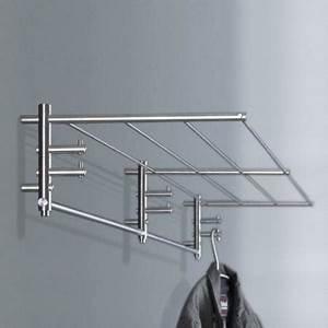 Design Garderobe Edelstahl : phos wandgarderobe g1 1300 mm edelstahl garderobe mit 6 ~ Michelbontemps.com Haus und Dekorationen