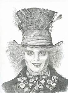 Mad Hatter actor Johnny Depp pencil drawing | My Artwork ...