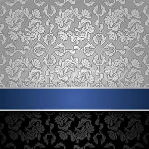 Silver and Blue Wallpaper