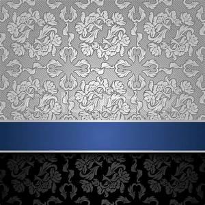 Silver and Blue Wallpaper - WallpaperSafari