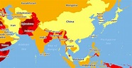 Here's A Map Of World's Most Dangerous Countries For ...